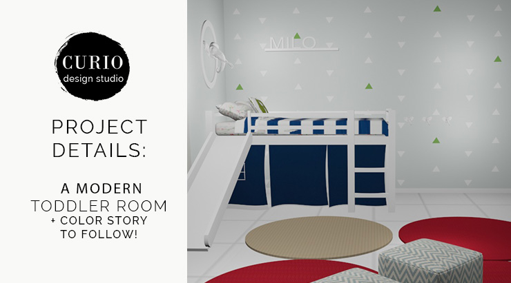Details of a Modern Toddler Room–and color story for you to follow!