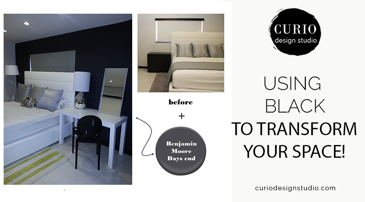 USING BLACK TO TRANSFORM YOUR SPACE!