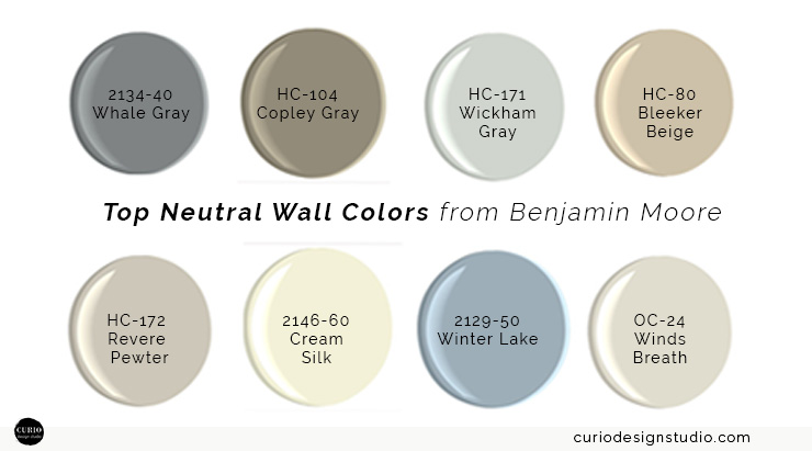 My top neutral wall colors curio design studio for Best neutral colors for home