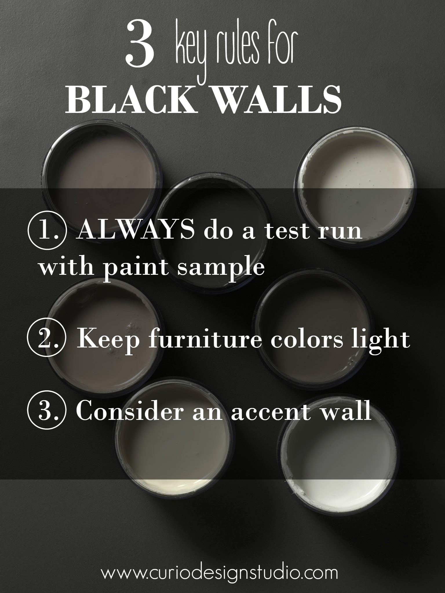Black Wall Paint using black to transform your space! | curio design studio