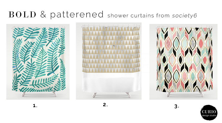 shower curtains from society6 | curio design studio