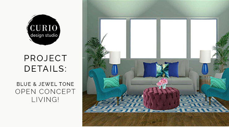 BLUE U0026 JEWEL TONE LIVING SPACE