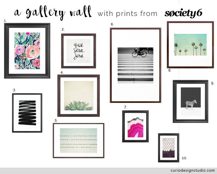 Gallery Wall Prints gallery wall from society 6! | curio design studio