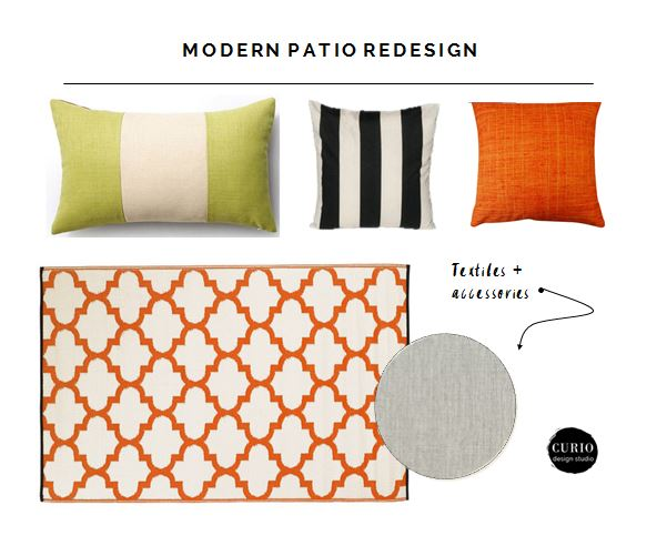 outdoor pillows modern patio