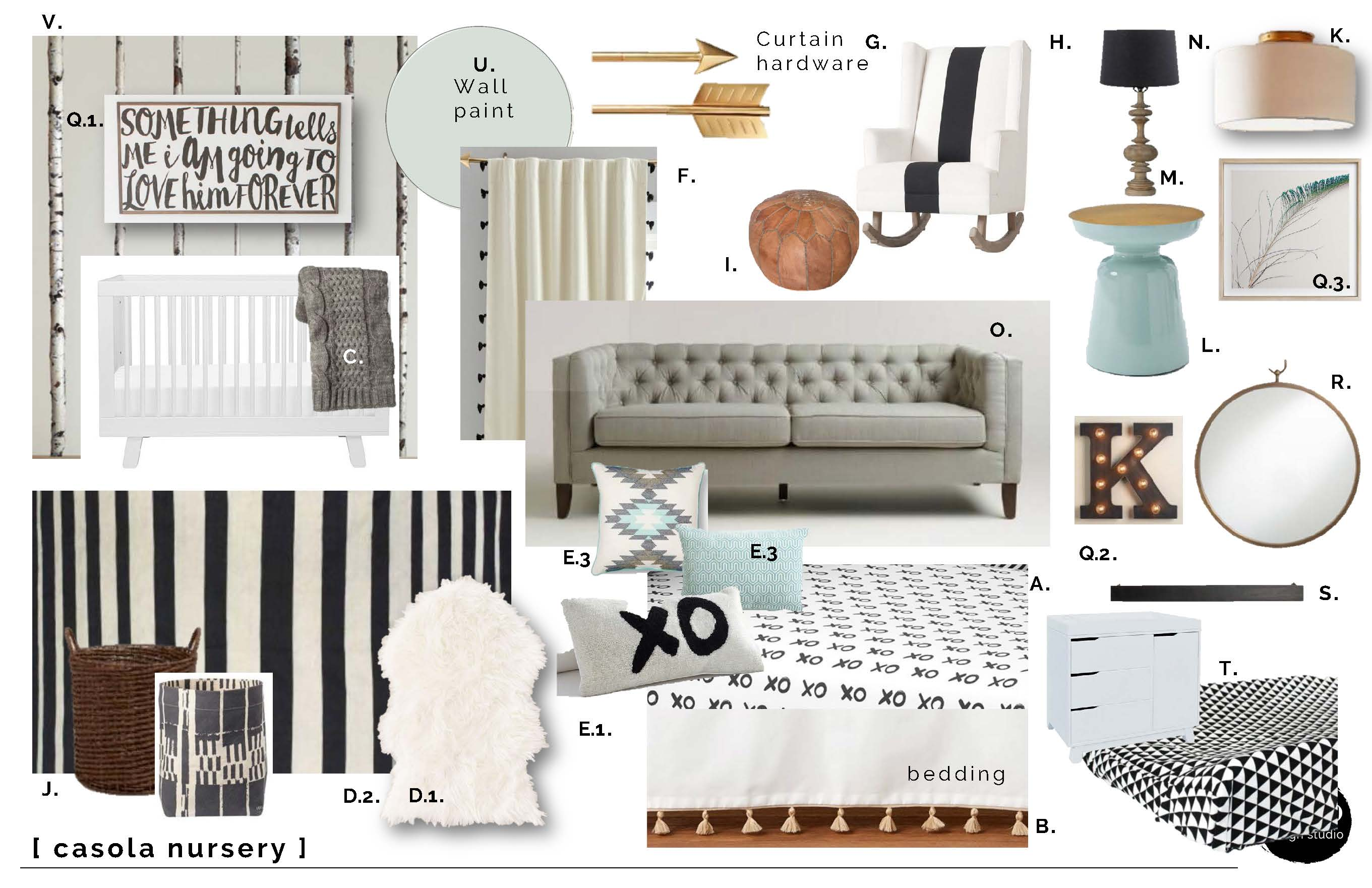 BLACK AND WHITE TRIBAL NURSERY