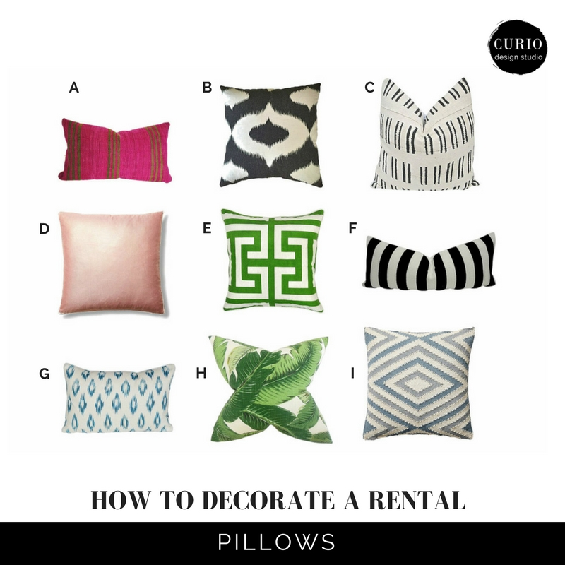how to decorate a rental-Pillows