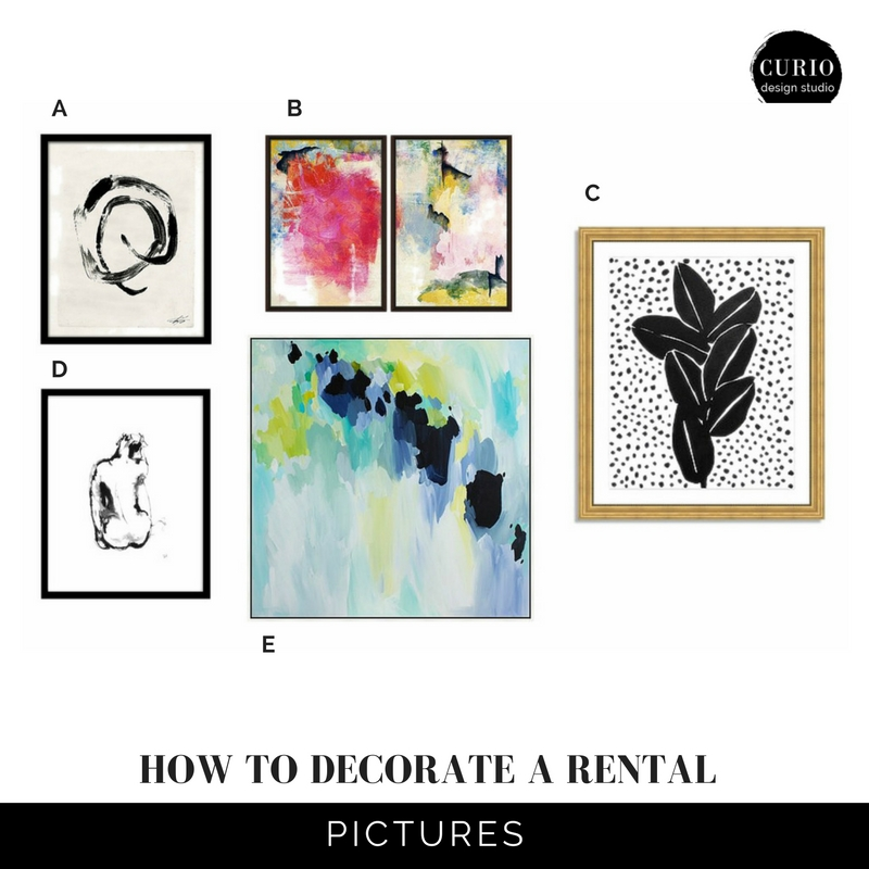 how to decorate a rental_pictures