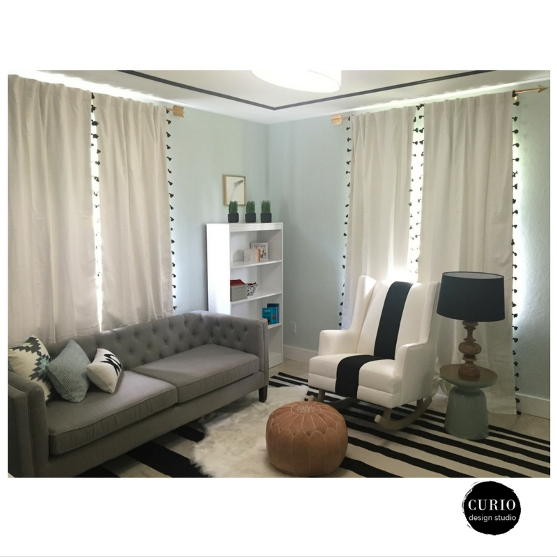 black and white tribal nursery after 2