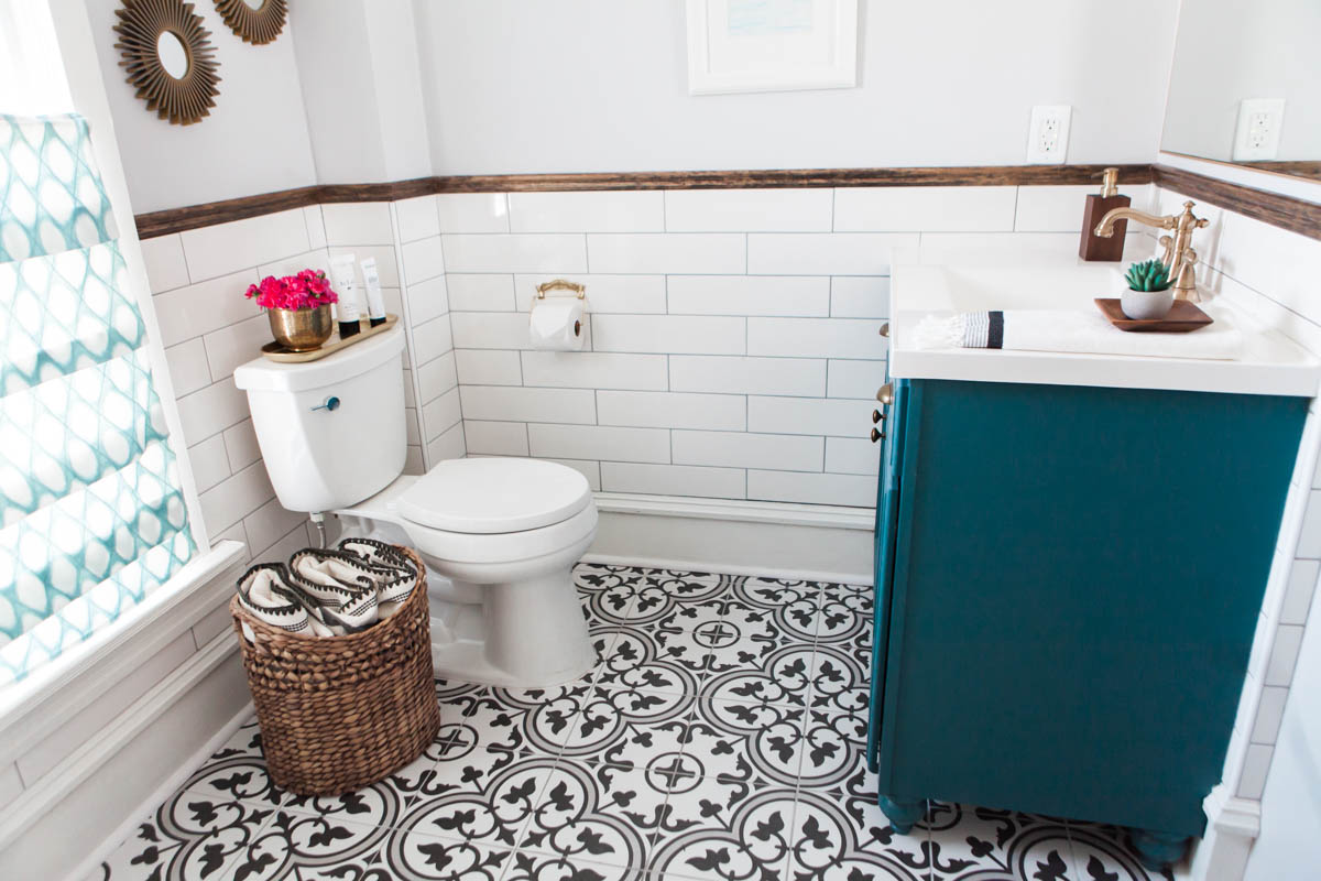 bathroom renovation reveal