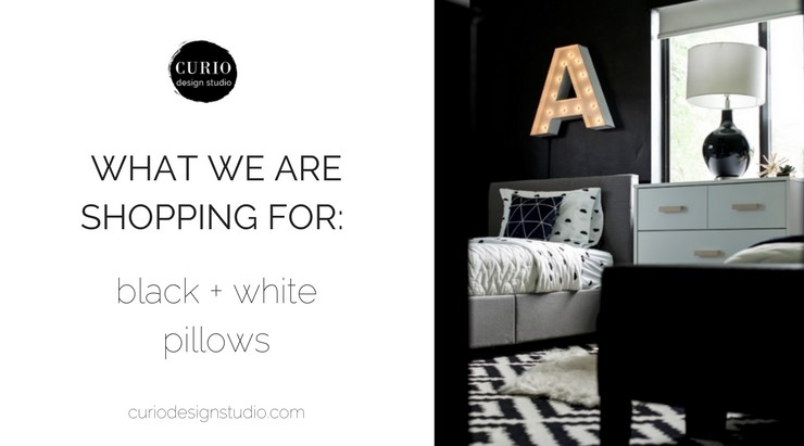 WHAT WE ARE SHOPPING: BLACK + WHITE PILLOWS