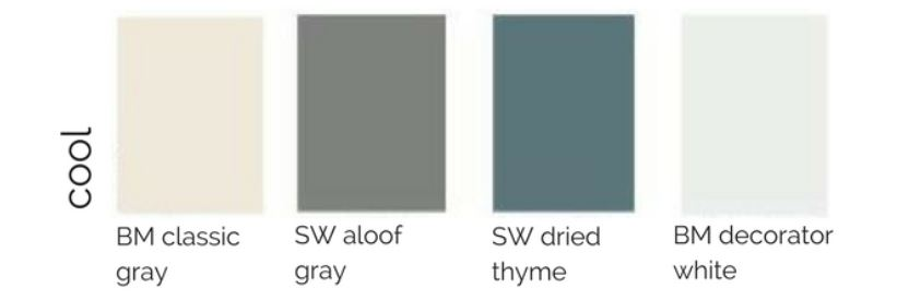 Paint palettes for your entire house curio design studio for Whole house neutral paint colors