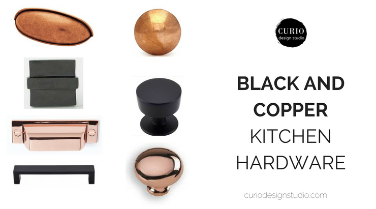 Black And Copper Kitchen Hardware Curio Design Studio