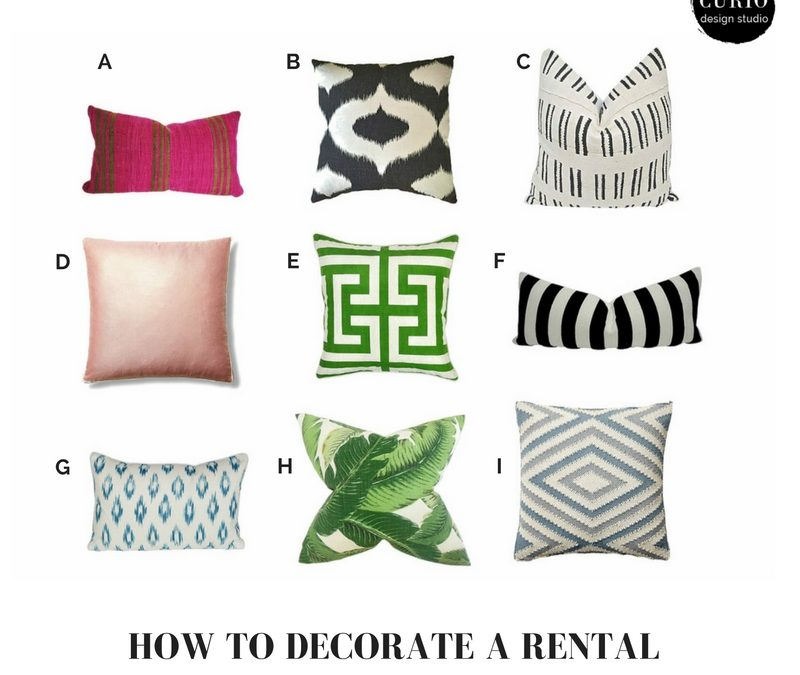 HOW TO DECORATE A RENTAL: THE 3 P'S!