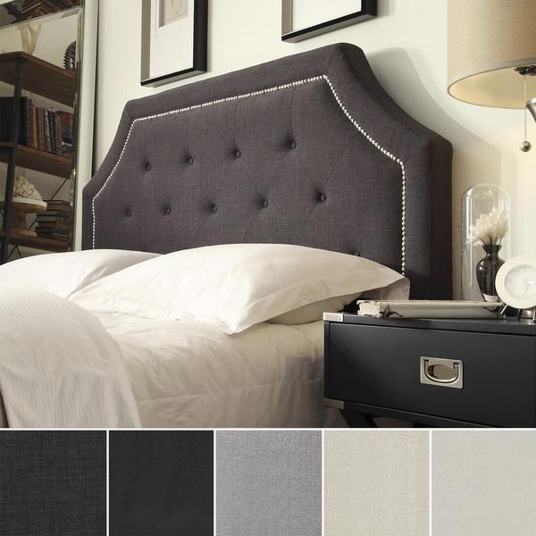 Dark Gray Linen Headboard