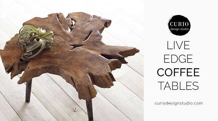 Live Edge Coffee Tables Curio Design Studio