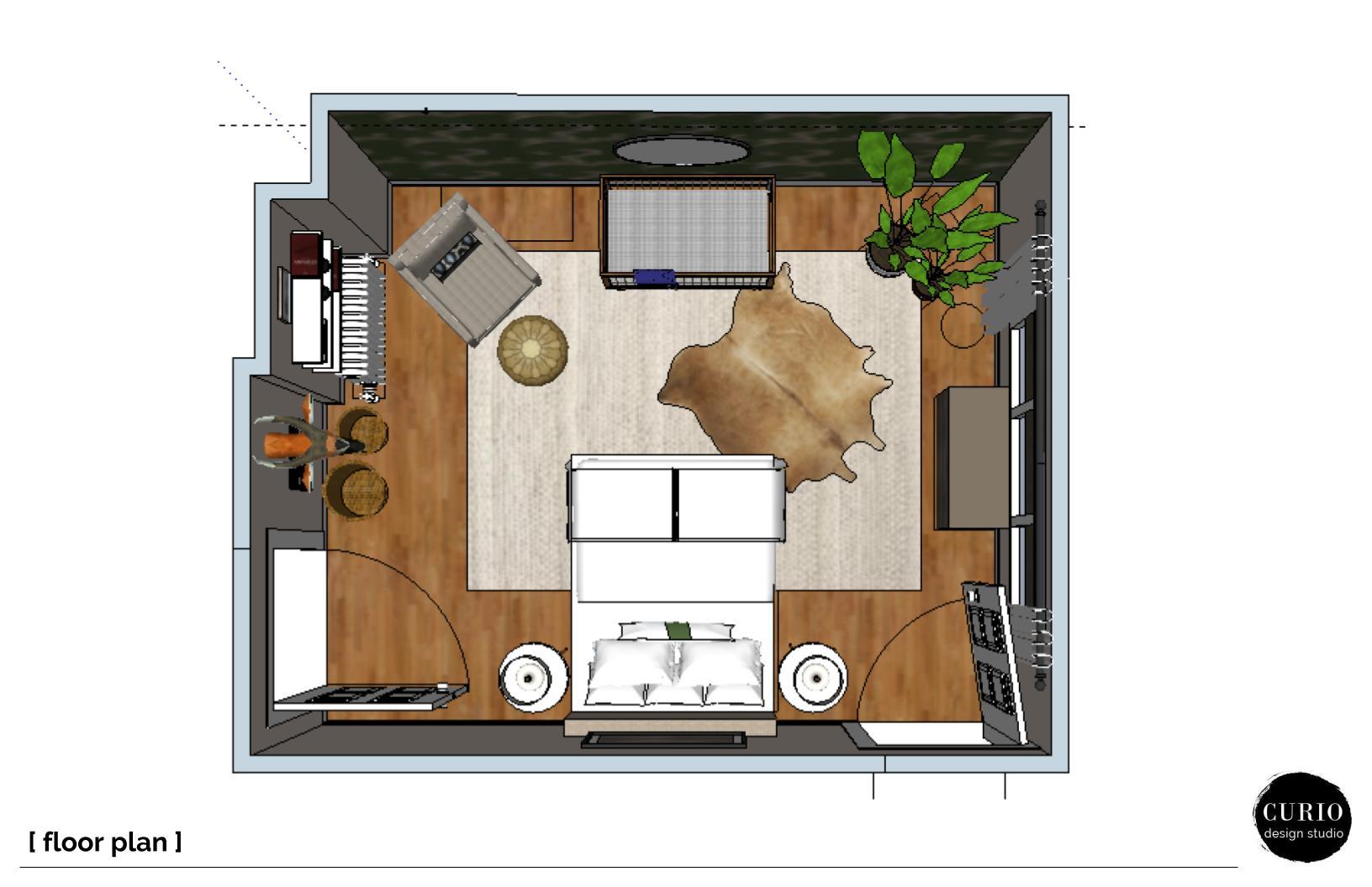 A Safari Inspired Nursery Design Plan Curio Design Studio