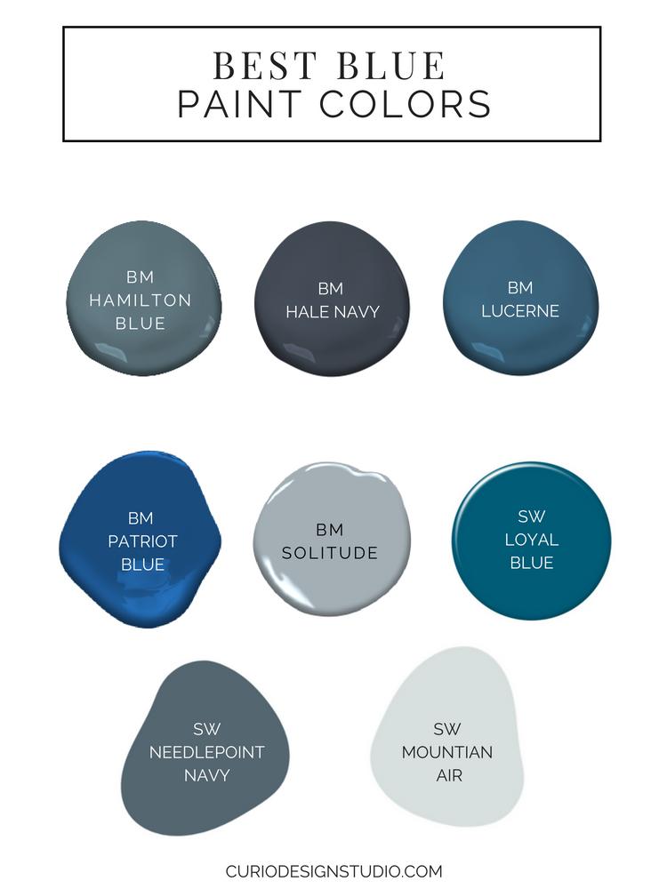 Best Blue Paint Colors Curio Design