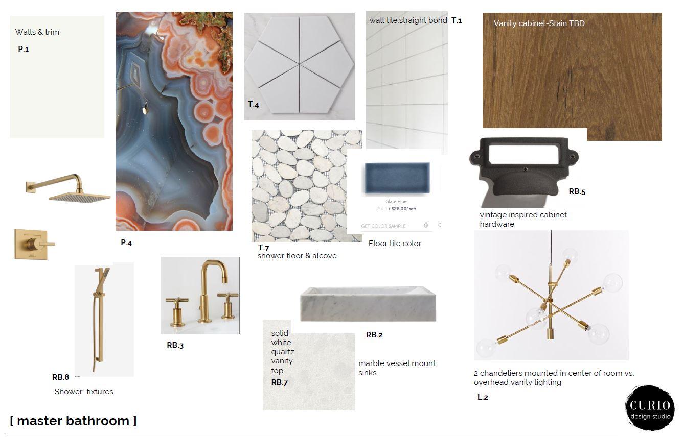 terrific mid century master bedroom bath   midcentury master bathroom   Curio Design Studio